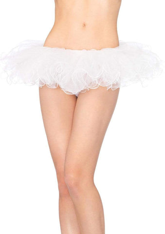 Tutu with Swirl Edge White
