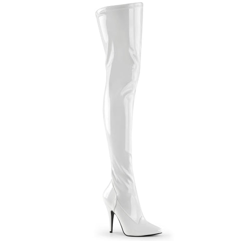 Pleaser Seduce 3000 White