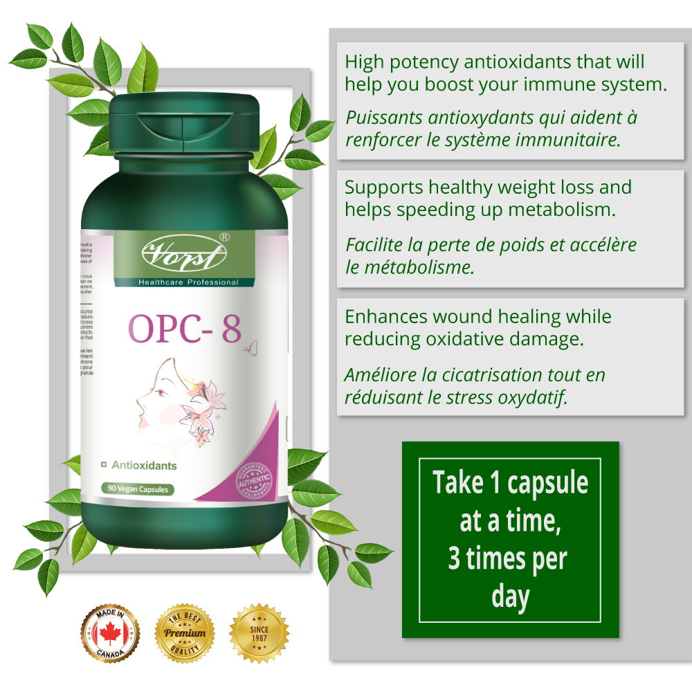 Vorst OPC-8 bottle and benefits
