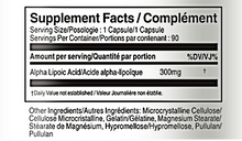 Load image into Gallery viewer, Alpha Lipoic Acid 300m - Vorst Supplements and Vitamins Supplement facts table