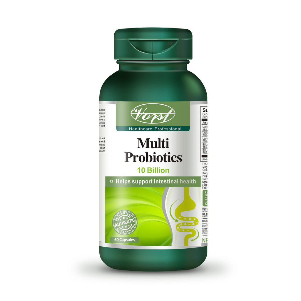 Multi Probiotics bottle with 60 Capsules - Vorst Supplements and Vitamins