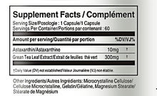 Load image into Gallery viewer, Supplement Facts of Astaxanthin 10mg 60 Capsules - Vorst Supplements and Vitamins