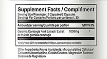 Load image into Gallery viewer, Supplement Facts Garcinia Cambogia 1000mg - Vorst Supplements and Vitamins