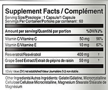 Load image into Gallery viewer, resveratrol supplement facts table