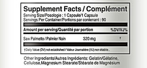 Saw Palmetto 320mg 90 Capsules
