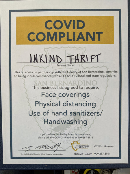 Inkind Thrift SB County Covid Compliant Business