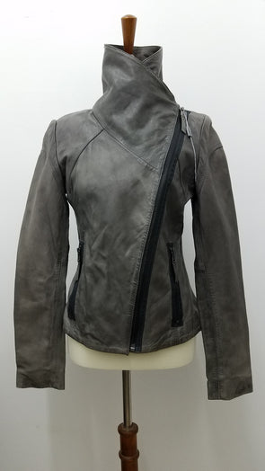 Marc of New York: Grey Leather Jacket