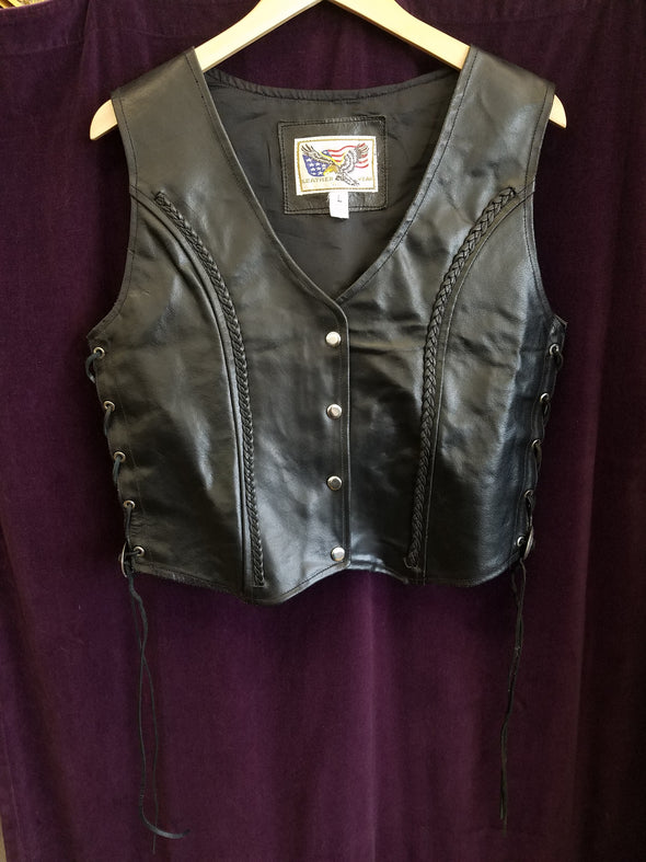 Vintage Leather Wear Vest : Large