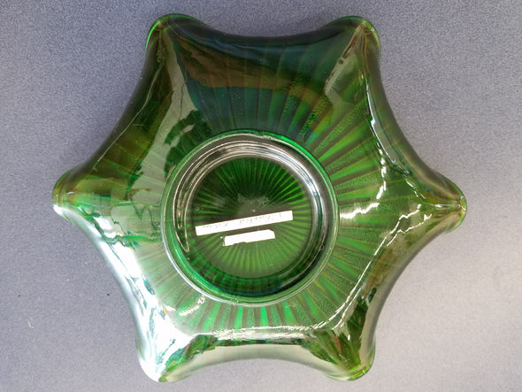 Fenton Stippled Rays Carnival Glass Dish