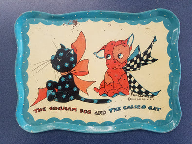The Gingham Dog and The Calico Cat Metal Tray