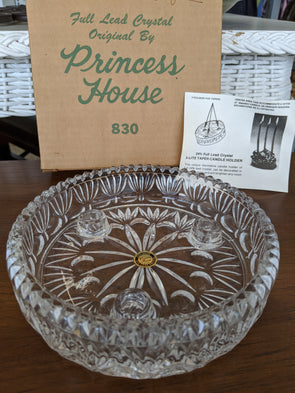 Princess House - Vintage 3-Lite Taper Candle Holder