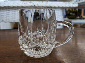 Vintage Crystal Liqueur Mugs - 4oz. Set of 4