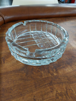 Vintage Itailian Art  Nouveau Style Clear Glass Ashtray