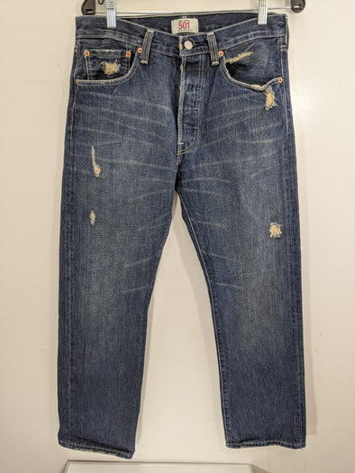 Levi Jeans Distressed Men's 501 Jeans 32/30