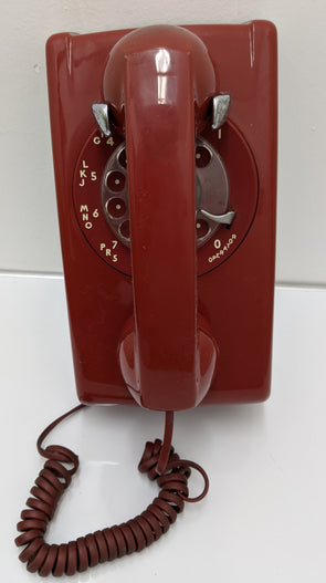 Red Bell Systems Western Electric Rotary Wall Phone