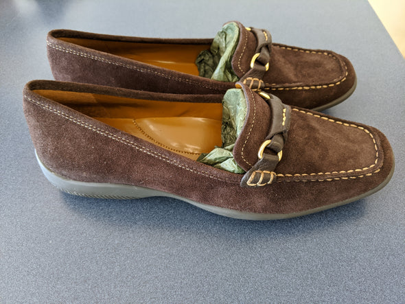 Eddie Bauer Brown Suede Womens Loafers