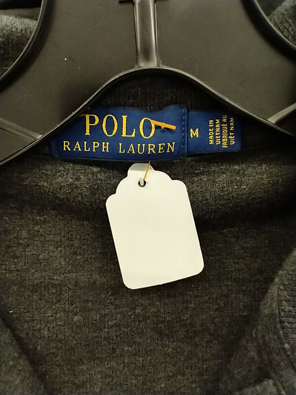 Polo by Ralph Lauren Zipper Sweater : Grey w Maroon Polo