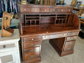 70's Ethan Allen Roll Top Desk