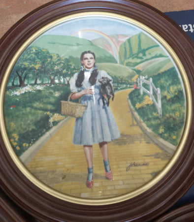 Wizard of Oz Knowles Collector Plate Set (1970s) - 8 Plates in Frames