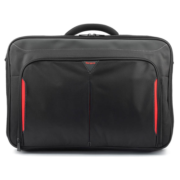Targus 17-18 Inch Classic+ Clamshell Laptop Bag - Black/Red (CN418EU)