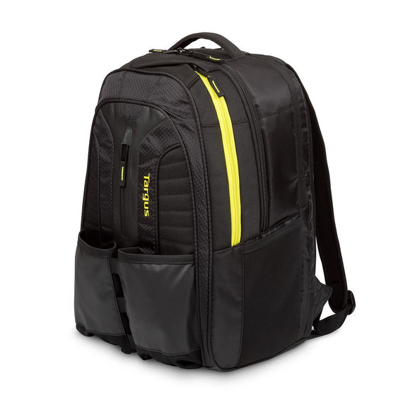 Targus 15.6 Inch Work + Play Rackets Laptop Backpack - Black/Yellow (TSB943EU)