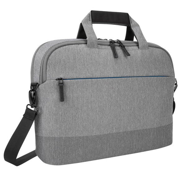 Targus 15.6 Inch CityLite laptop bag best for work, commute or university – Grey (TBT919GL)