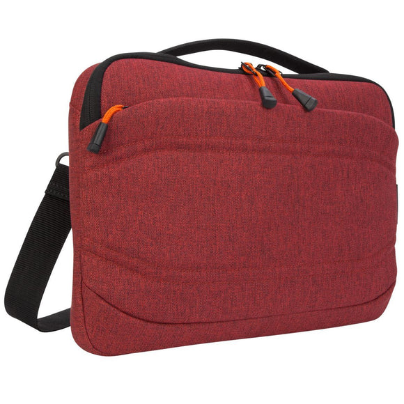 Targus 13 Inch Groove X2 Slim Case designed for MacBook & Laptops - Dark Coral (TSS97902GL)