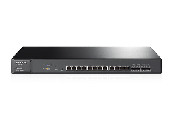 TP-Link JetStream 12-Port 10GBase-T Smart Switch with 4 10G SFP+ Slots (T1700X-16TS)