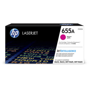 Genuine HP 655A Magenta LaserJet Toner Cartridge (CF453A)
