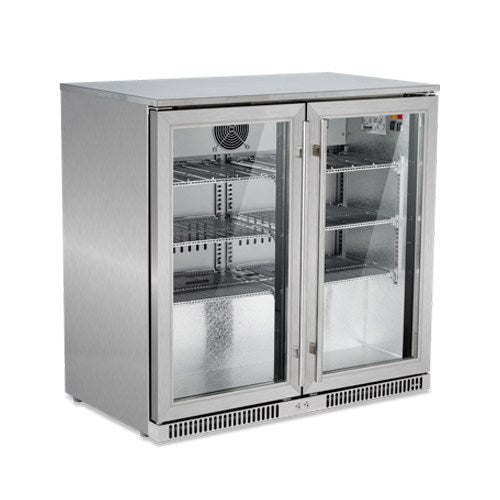 Snomaster Stainless Steel Two Door Alfresco Beverage Cooler (SD220SS)