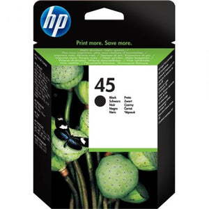 Genuine HP 45 Large Black Inkjet Print Cartridge (51645AE)
