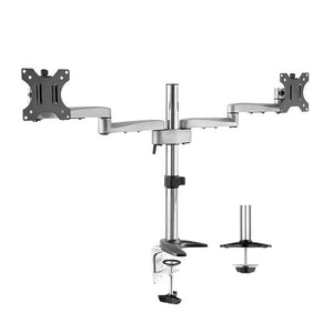 Lumi Dual Screen Preconfigured Modular Aluminum Monitor Arm (LDT15-C024)