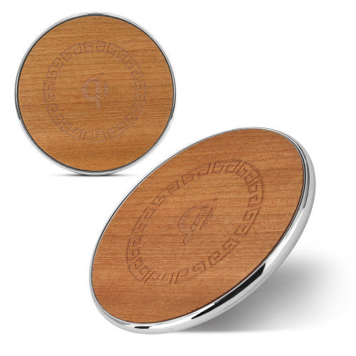 Tuff-Luv Eco-Charge Bamboo Turbo 9V-1.8A/5V-2A Fast Wireless Charger - Natural (I2_124)