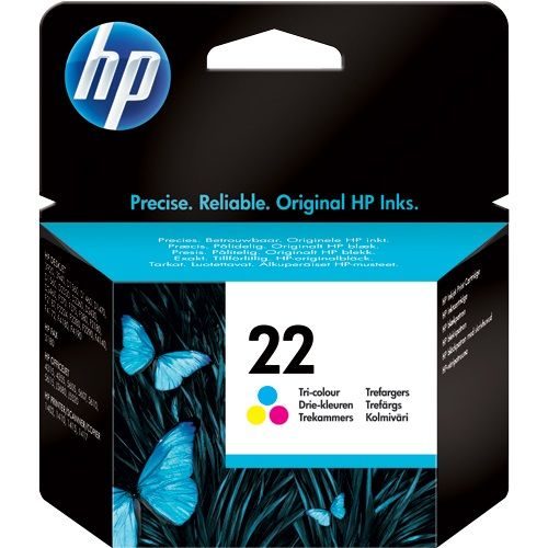 Genuine HP 22 Tri-colour Inkjet Print Cartridge (C9352AE)