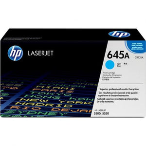 Genuine HP 645A Cyan LaserJet Toner Cartridge (C9731A)