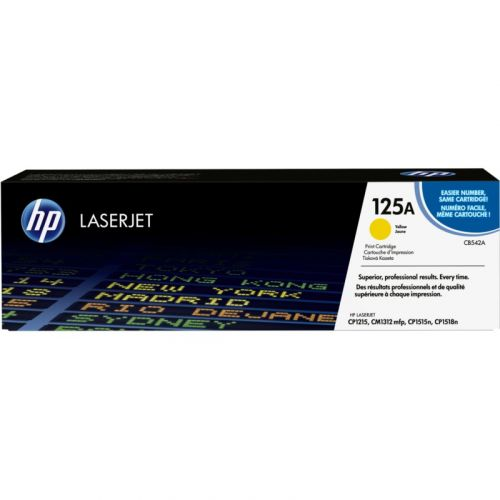 Genuine HP 125A Yellow LaserJet Toner Cartridge (CB542A)