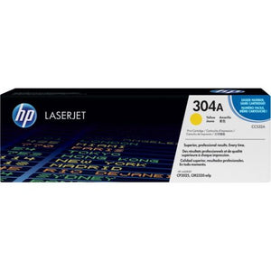 Genuine HP 304A Yellow LaserJet Toner Cartridge (CC532A)