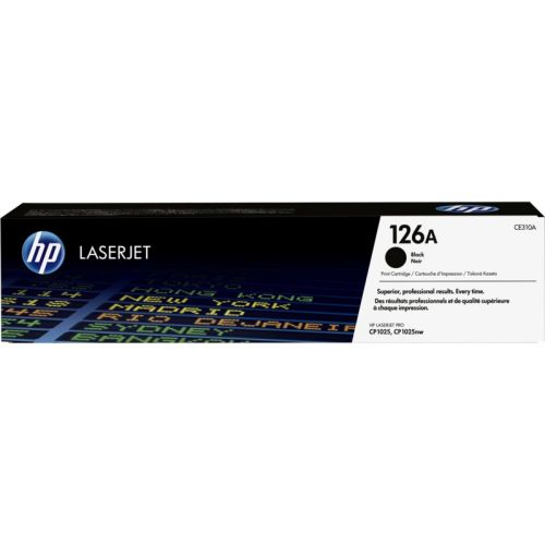 Genuine HP 126A Black LaserJet Toner Cartridge (CE310A)