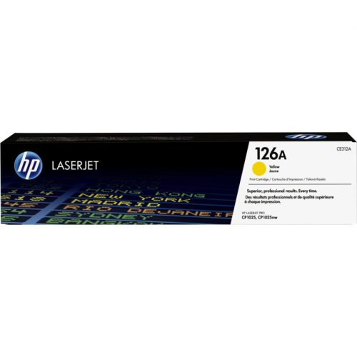 Genuine HP 126A Yellow LaserJet Toner Cartridge (CE312A)