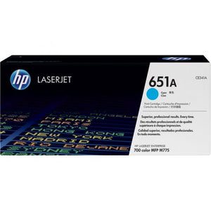 Genuine HP 651A Cyan LaserJet Toner Cartridge (CE341A)