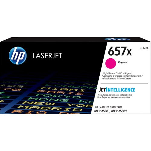 Genuine HP 657X High Yield Magenta Original LaserJet Toner Cartridge (CF473X)