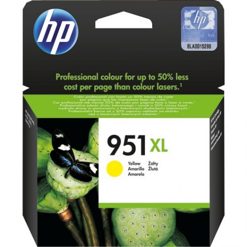 Genuine HP 951XL Yellow Officejet Ink Cartridge (CN048AE) SKU CN048AE