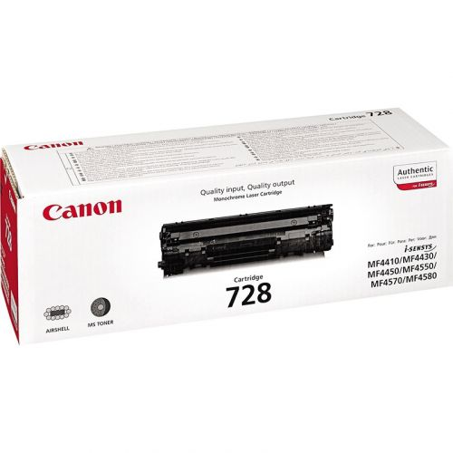 Genuine Canon 728 Black Laser Toner Cartridge