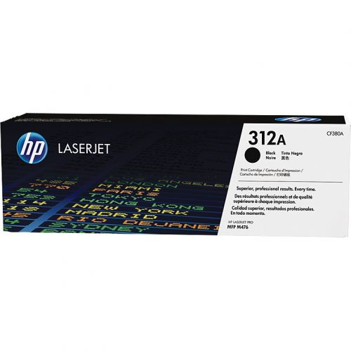 Genuine HP 312A Black LaserJet Toner Cartridge (CF380A)