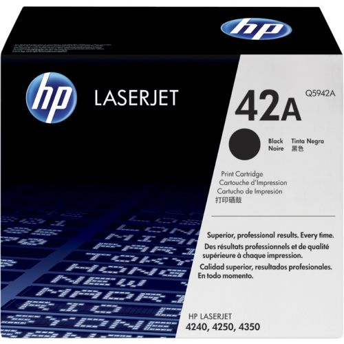 Genuine HP 42A Black LaserJet Toner Cartridge (Q5942A)