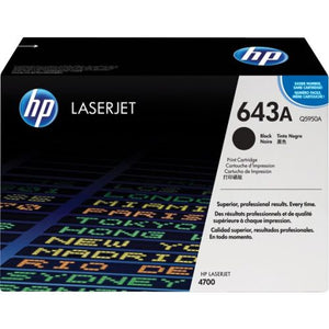 Genuine HP 643A Black LaserJet Toner Cartridge (Q5950A)