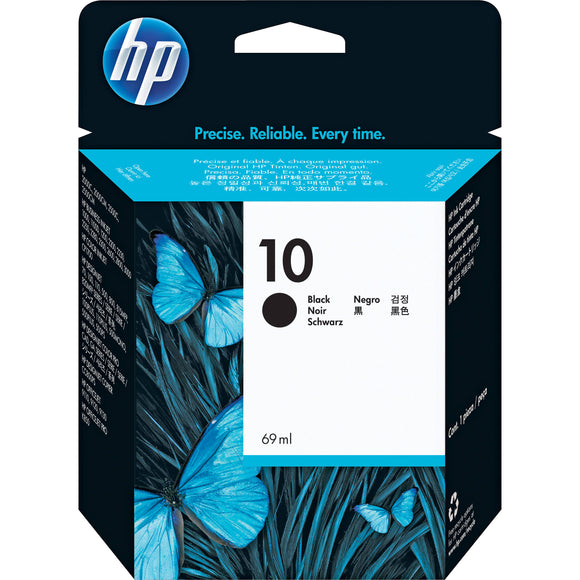 Genuine HP 10 Black Original Ink Cartridge (C4844A)
