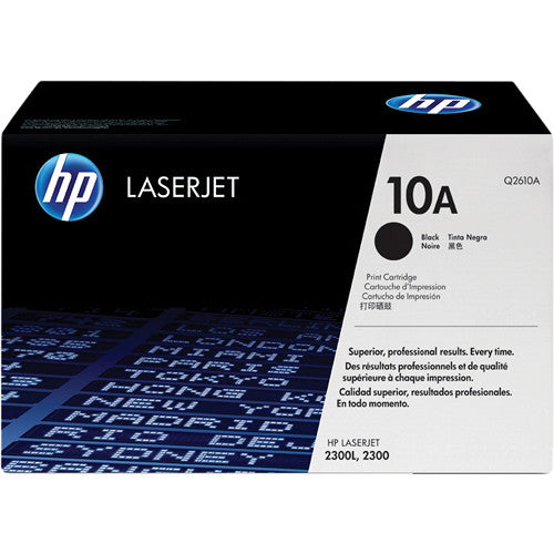 Genuine HP 10A Black LaserJet Toner Cartridge (Q2610A)