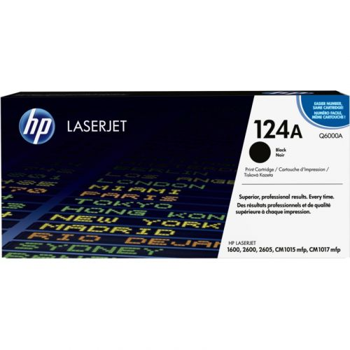 Genuine HP 124A Black LaserJet Toner Cartridge (Q6000A)