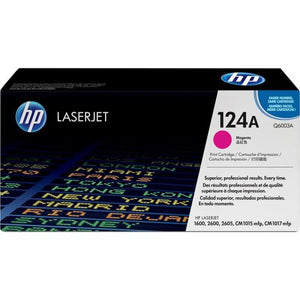Genuine HP 124A Magenta LaserJet Toner Cartridge (Q6003A)
